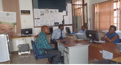 Working meeting in the Office of the PAV in Zambezia province