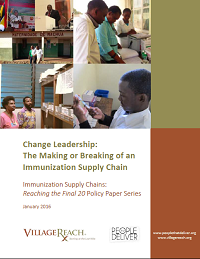 next-generation immunization supply chain: change leadership