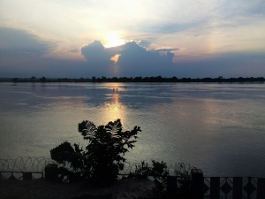 Sunset over the Congo River