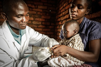 Malawi healthcare worker